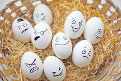 Easter emotions - stock photo