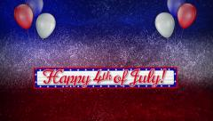 Happy Fourth Glitter - stock footage