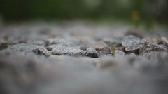 Granite gravel Stock Footage