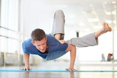 Difficult asana Stock Photos