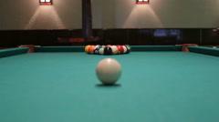 Snooker billiard Stock Footage