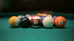 Snooker billiard Arkistovideo
