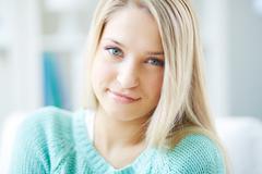 Naive smile - stock photo