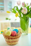 Easter atmosphere - stock photo