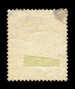 Stock Photo of Reverse side of a postage stamp.