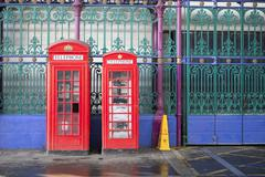 Telephone booth Stock Photos