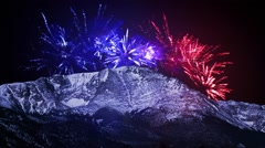 Pikes Peak Fourth of July - stock footage