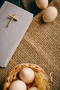 Religious symbols - stock photo