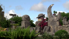 Coral Castle (Rock Gate Park) in Homestead Stock Footage