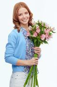 Flower lover - stock photo