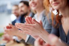Hands applauding Kuvituskuvat