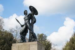 Statue of Achilles in Hyde Park, London, UK, dedicated to the Du - stock photo