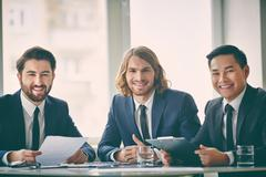 Three entrepreneurs - stock photo