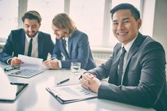 Experienced manager - stock photo