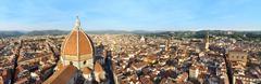 Florence panorama with Basilica di Santa Maria del Fiore cathedral - stock photo