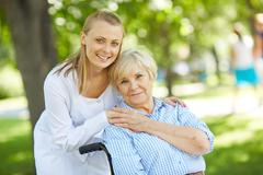 Taking care of patient - stock photo