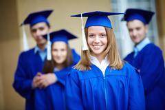 Successful graduate - stock photo