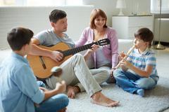 Musical family Stock Photos