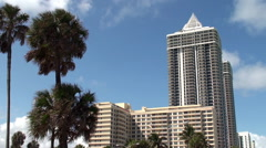 Towers at the Mid-Beach of Miami Beach (Millionaires' Mile). - stock footage