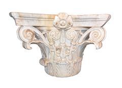 Ancient marble Corinthian capital from Neronian era - stock photo