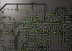 Circuit board Stock Illustration