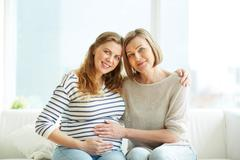 Expecting grandchild Stock Photos