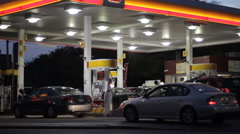 Busy gas station at night 2 - stock footage