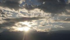 Morning Sun and Clouds Stock Footage
