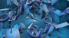Random 3d shapes abstract motion background 3 Stock Footage