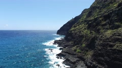 Lighthouse, Makapuu Beach, Oahu, Hawaii - stock footage