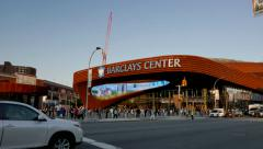 Barclays Center in Brooklyn 4K - stock footage