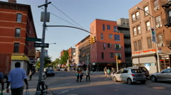 Beautiful Park Slope Brooklyn. Douglass Street and 5th Avenue. Stock Footage