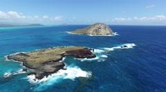 Kaohikaipu Island, Makapuu, Beach, Oahu, Hawaii Stock Footage