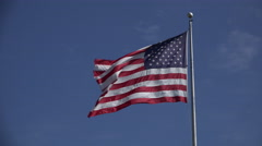 4k American flag reversed Stock Footage