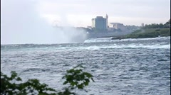 Niagara Falls Canada Looking at USA Side Stock Footage