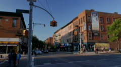 Park Slope, Union Street and 5th Avenue. Central Park Slope. Stock Footage