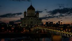 Cathedral of Christ the Savior, Moscow Stock Footage