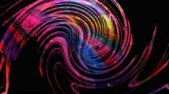Psychedelic random swirls abstract motion background 1 Stock Footage
