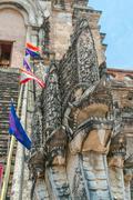 Dragon at Wat Chedi Luang Chiang Mai Stock Photos