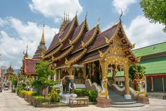 Wat Saen Muang Ma Luang Chiang Mai, Thailand Stock Photos