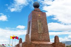 Monument to the Equator - stock photo