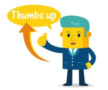 Businessman showing thumb up Stock Illustration