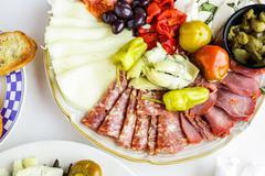 Vegetarian antipasto - stock photo