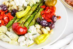 Stock Photo of Vegetarian antipasto