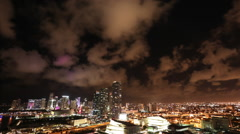 City of Miami Timelapse at Night Stock Footage