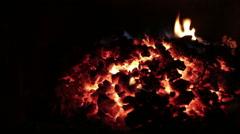 Live coals Stock Footage