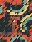 Abstract retro color of triangles background - stock illustration