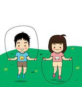 Stock Illustration of Children's activities