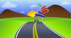 long journey - stock illustration