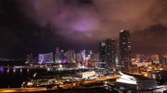 Miami Skyline 2015 Timelapse View Stock Footage